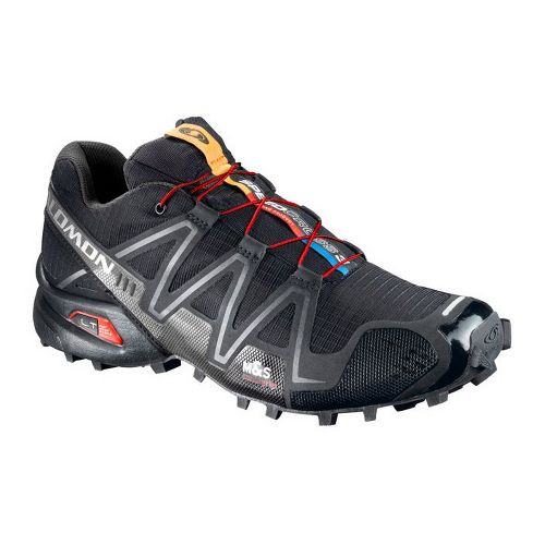 Mens Salomon Speedcross 3 Trail Running Shoe - Black 12