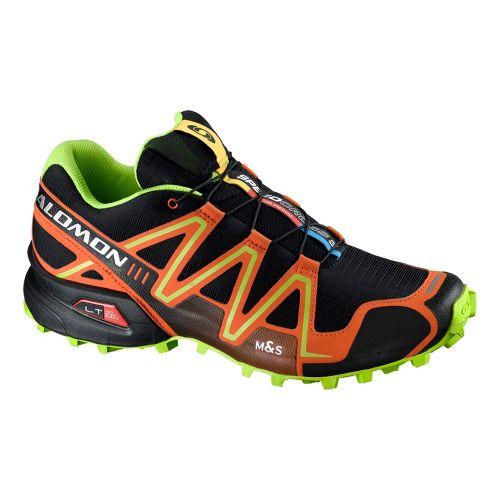 Mens Salomon Speedcross 3 Trail Running Shoe - Black/Red 10.5