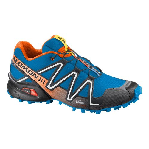 Mens Salomon Speedcross 3 Trail Running Shoe - Blue/Orange 10.5