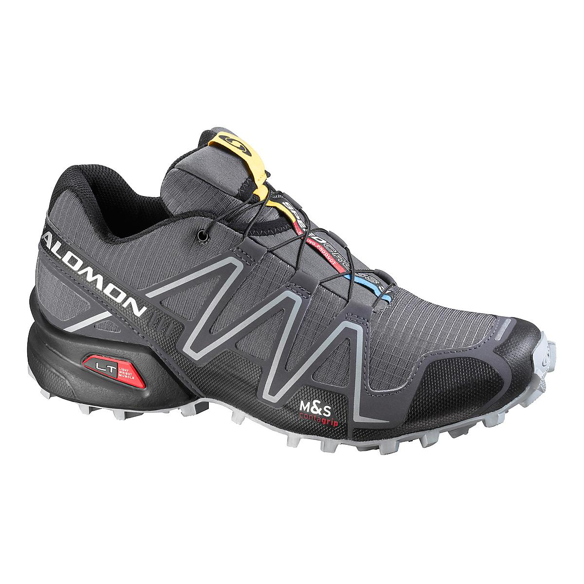 mens salomon speedcross 3 trail running shoe at road runner sports. Black Bedroom Furniture Sets. Home Design Ideas