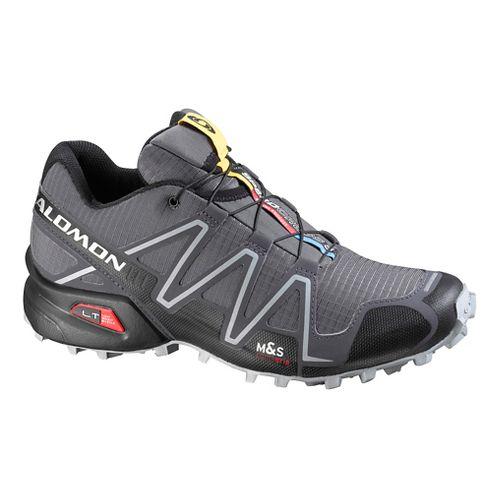 Mens Salomon Speedcross 3 Trail Running Shoe - Green/Orange 13
