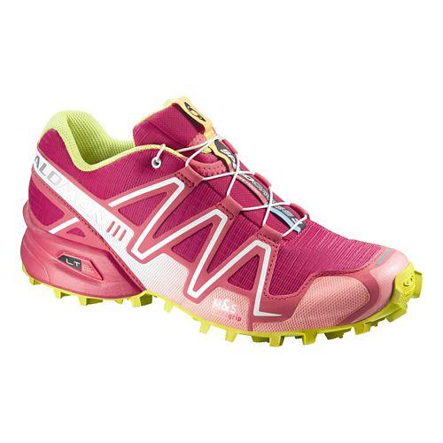 Womens Salomon Speedcross 3 Trail Running Shoe - Lotus/Papaya 11