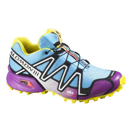 Womens Salomon Speedcross 3 Trail Running Shoe - Blue/Purple 9