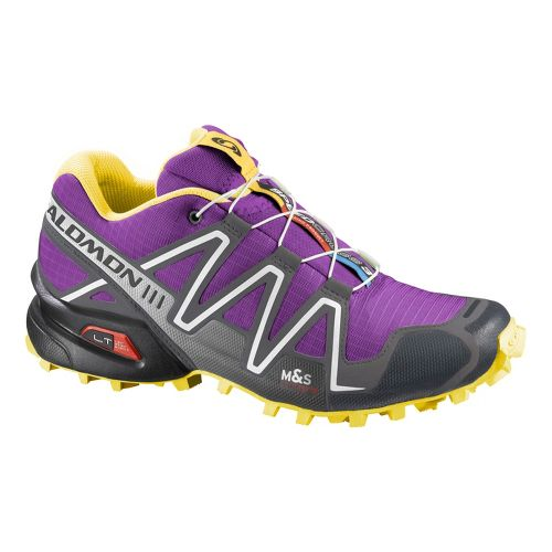 Womens Salomon Speedcross 3 Trail Running Shoe - Purple 7.5