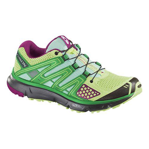 Womens Salomon XR Mission Trail Running Shoe - Green/Black 5.5
