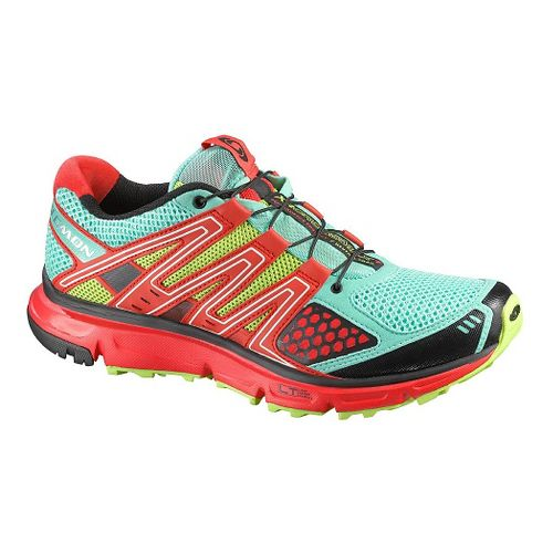 Womens Salomon XR Mission Trail Running Shoe - Aqua/Orange 11