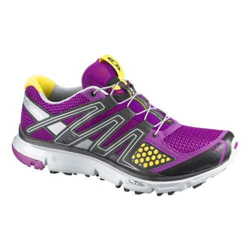 Womens Salomon XR Mission Trail Running Shoe - Purple 7.5