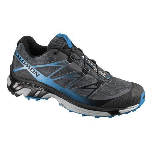 Mens Salomon XT Wings 3 Trail Running Shoe - Black/Blue 10.5