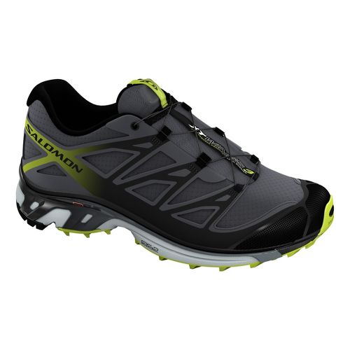 Mens Salomon XT Wings 3 Trail Running Shoe - Black/Green 10.5