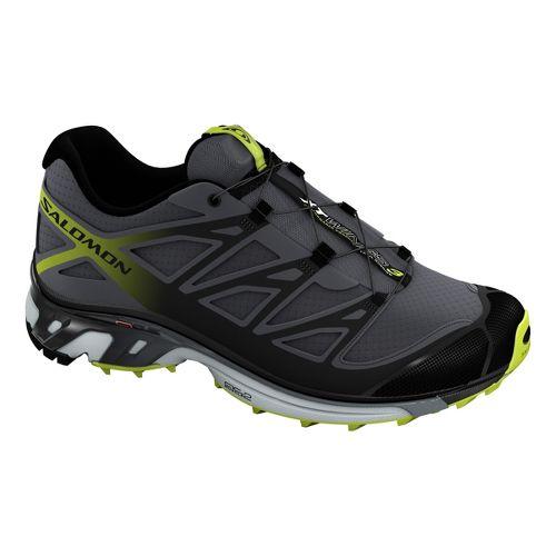 Mens Salomon XT Wings 3 Trail Running Shoe - Black/Green 12