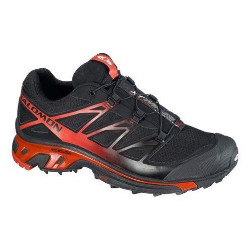 Mens Salomon XT Wings 3 Trail Running Shoe - Black/Red 10.5