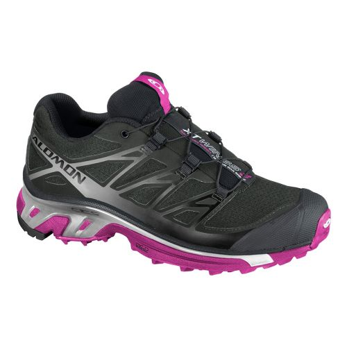 Womens Salomon XT Wings 3 Trail Running Shoe - Black/Pink 10