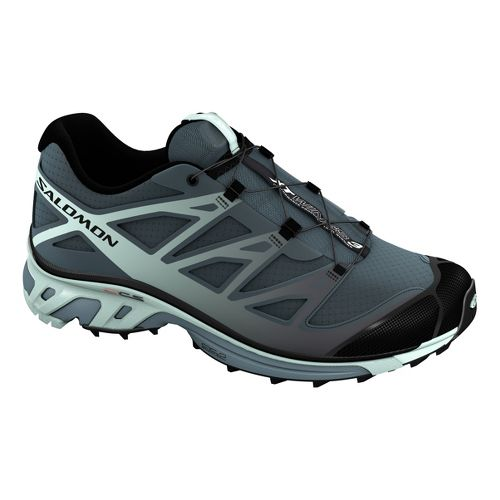 Womens Salomon XT Wings 3 Trail Running Shoe - Grey/Black 8