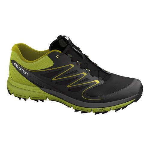 Salomon Sense Mantra Trail Running Shoe - Black/Green 12