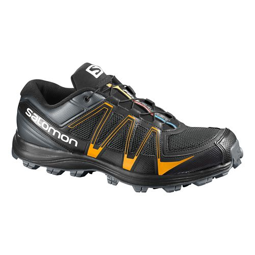 Mens Salomon Fellraiser Trail Running Shoe - Black/Orange 7