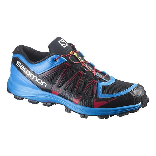 Mens Salomon Fellraiser Trail Running Shoe - Black/Methyl Blue 10.5