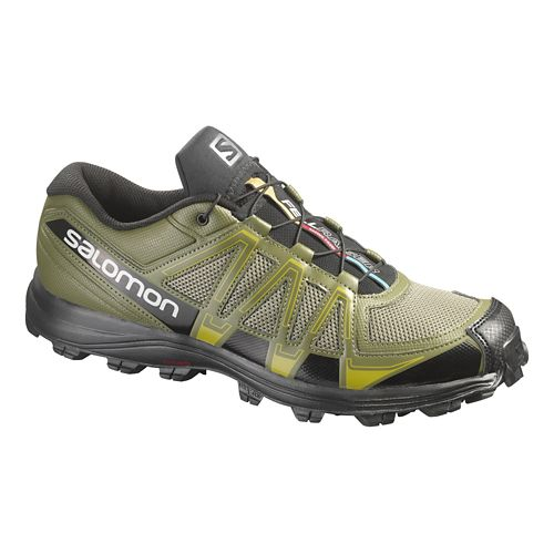 Mens Salomon Fellraiser Trail Running Shoe - Olive/Black 14