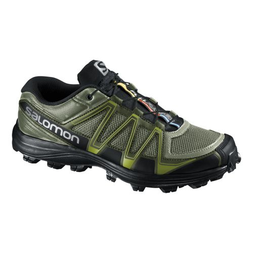 Mens Salomon Fellraiser Trail Running Shoe - Olive/Black 10.5