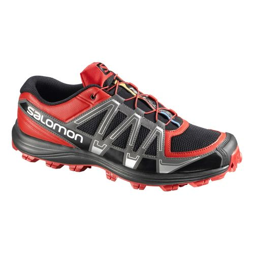 Mens Salomon Fellraiser Trail Running Shoe - Red/Grey 13