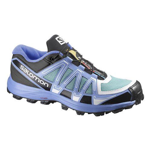 Womens Salomon Fellraiser Trail Running Shoe - Blue/Ice 7