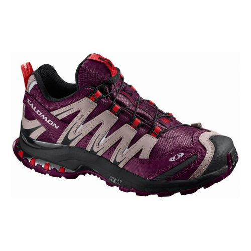 Womens Salomon XA Pro 3D Ultra CS WP Trail Running Shoe - Maroon 9.5