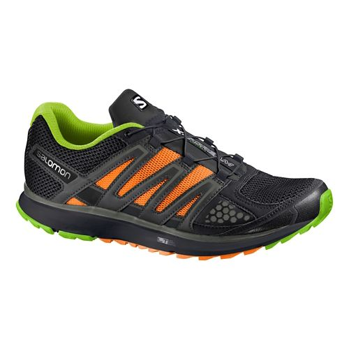 Mens Salomon X-Scream Trail Running Shoe - Black/Green 10.5