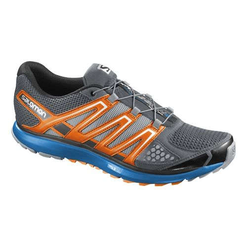Mens Salomon X-Scream Trail Running Shoe - Grey/Orange 10.5