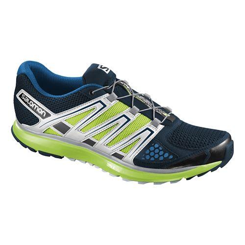 Mens Salomon X-Scream Trail Running Shoe - Blue/Green 7.5