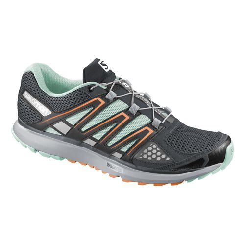 Womens Salomon X-Scream Trail Running Shoe - Grey/Orange 7.5