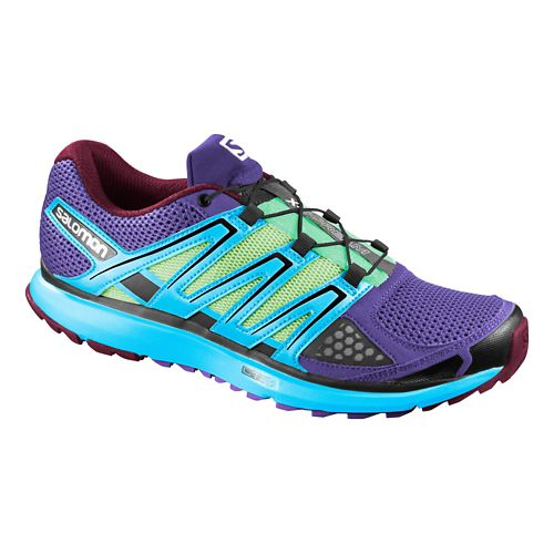 Womens Salomon X-Scream Trail Running Shoe - Purple/Blue 6.5