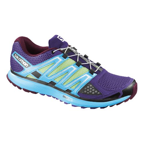 Womens Salomon X-Scream Trail Running Shoe - Purple/Blue 7.5