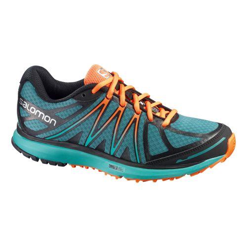 Womens Salomon X-Tour Trail Running Shoe - Blue/Orange 11