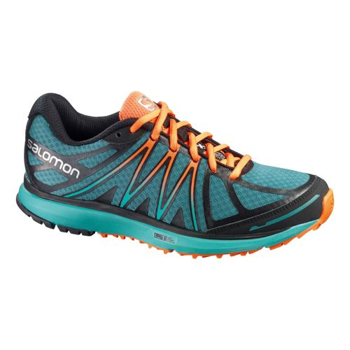 Womens Salomon X-Tour Trail Running Shoe - Blue/Orange 6.5