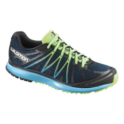 Womens Salomon X-Tour Trail Running Shoe - Navy/Blue 7
