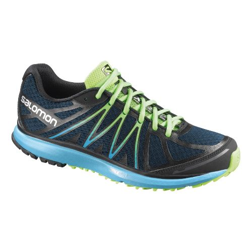 Womens Salomon X-Tour Trail Running Shoe - Navy/Blue 8