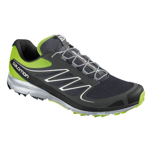 Mens Salomon Sense Mantra 2 Trail Running Shoe - Grey/Green 8.5