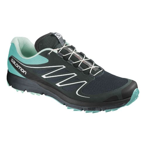 Womens Salomon Sense Mantra 2 Trail Running Shoe - Grey/Blue 10