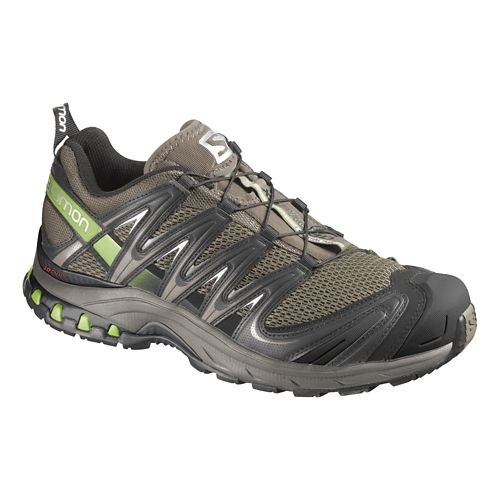 Mens Salomon XA Pro 3D Trail Running Shoe - Olive/Grey 7.5