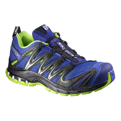 Mens Salomon XA Pro 3D Trail Running Shoe - Purple/Green 10.5