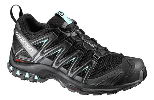 Womens Salomon XA Pro 3D Trail Running Shoe - Black/Magnet/Aqua 10.5