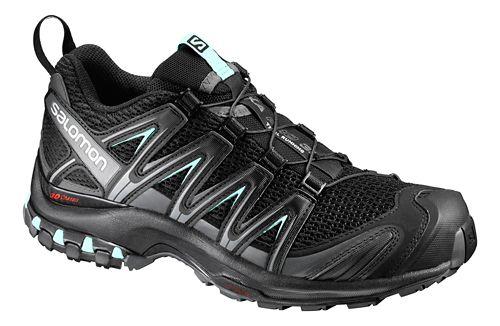 Womens Salomon XA Pro 3D Trail Running Shoe - Black/Magnet/Aqua 9.5