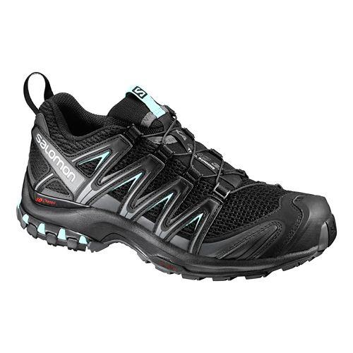 Womens Salomon XA Pro 3D Trail Running Shoe - Black/Magnet/Aqua 6.5
