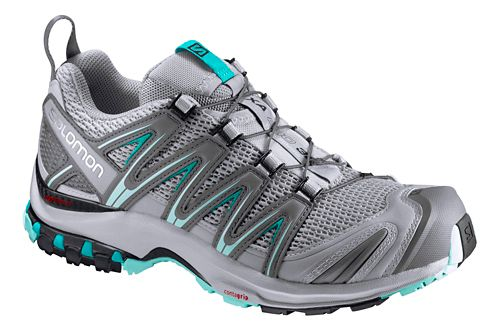 Womens Salomon XA Pro 3D Trail Running Shoe - Quarry/Blue 10.5