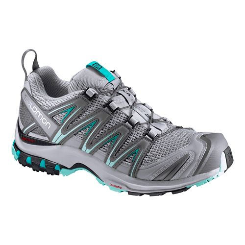 Womens Salomon XA Pro 3D Trail Running Shoe - Quarry/Blue 11
