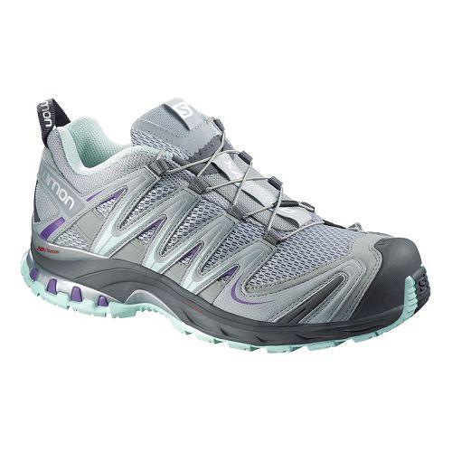 Womens Salomon XA Pro 3D Trail Running Shoe - Grey/Blue 5