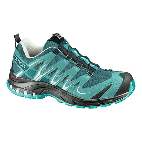 Womens Salomon XA Pro 3D Trail Running Shoe - Aqua/Grey 9.5