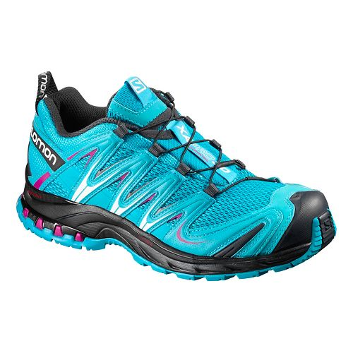 Womens Salomon XA Pro 3D Trail Running Shoe - Blue Jay/Black 9