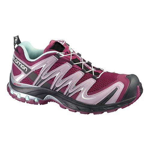 Womens Salomon XA Pro 3D Trail Running Shoe - Purple/Pink 6.5
