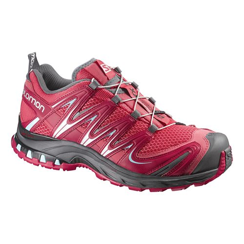 Womens Salomon XA Pro 3D Trail Running Shoe - Papaya/Lotus 7