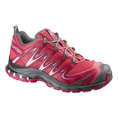 Womens Salomon XA Pro 3D Trail Running Shoe - Papaya/Lotus 9